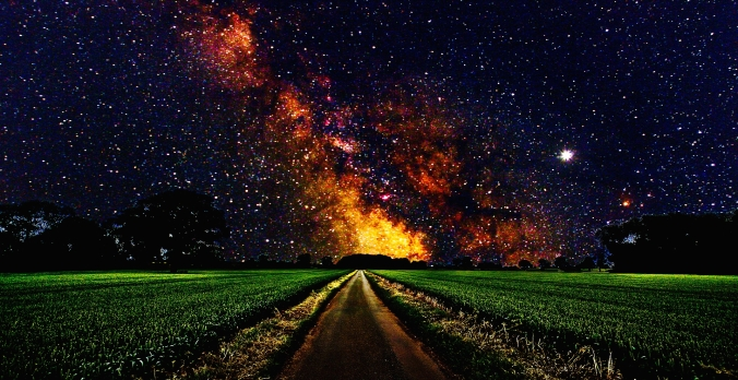 7024573-space-stars-road