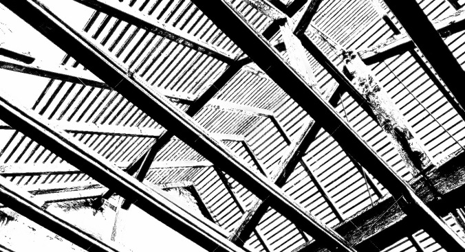 Roof reconstruction with wood framing and trough roof trusses to the sky